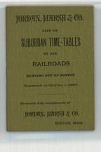 Suburban Time-Tables Cover 1897 Railroads Running out of Boston - Version 2, Perkins Collection 1873 to 1890c Railway Timetables and Tickets